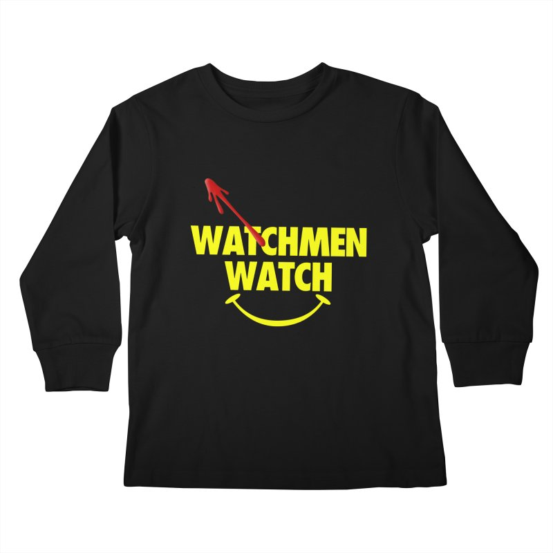 Watchmen Watch - Yellow on Black Kids Longsleeve T-Shirt by Comic Book Club Official Shop