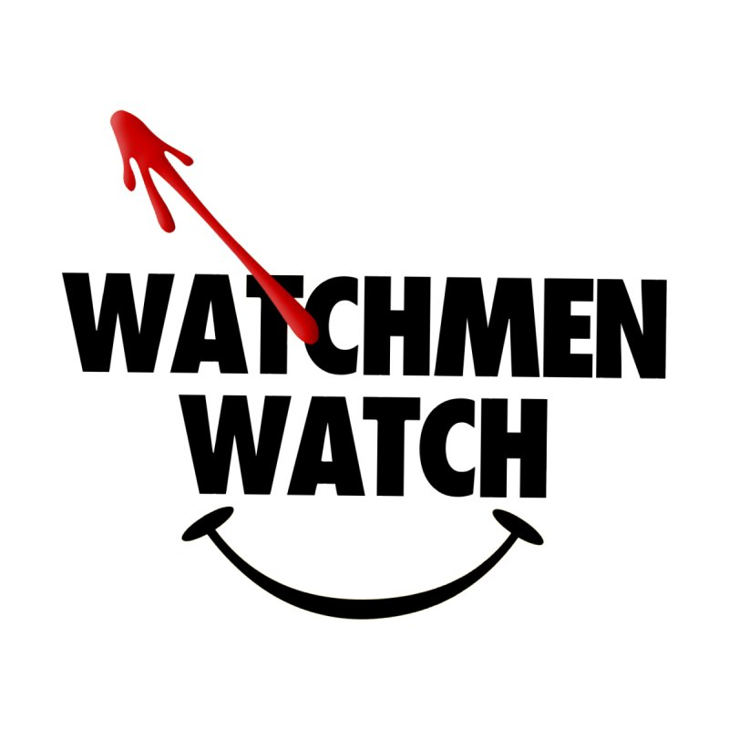 Watchmen Watch - Black on Yellow Men's T-Shirt by Comic Book Club Official Shop