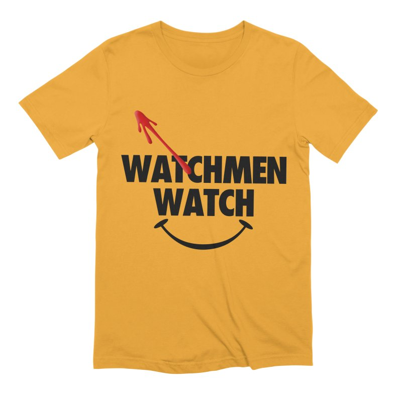Watchmen Watch - Black on Yellow Men's Extra Soft T-Shirt by Comic Book Club Official Shop