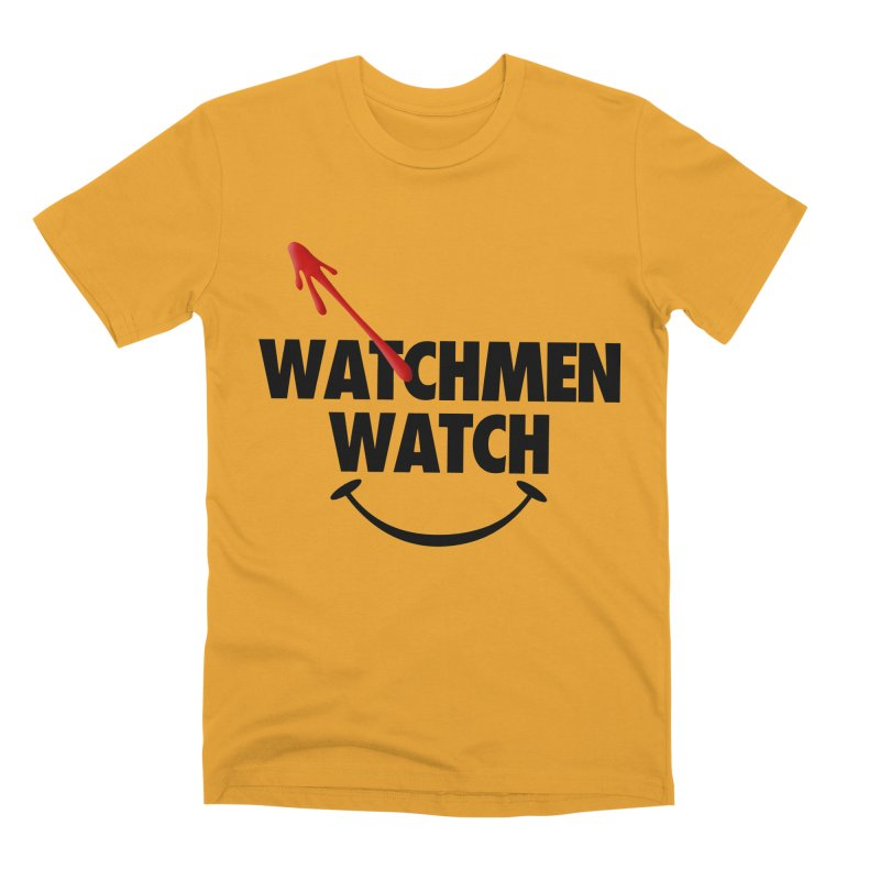 Watchmen Watch - Black on Yellow Men's Premium T-Shirt by Comic Book Club Official Shop