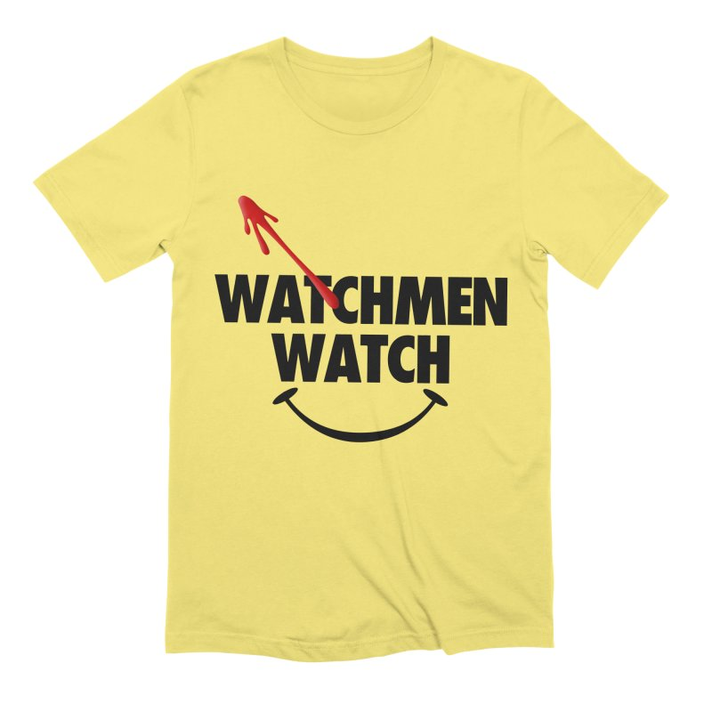 Watchmen Watch - Black on Yellow Men's T-Shirt by Comic Book Club Official Shop