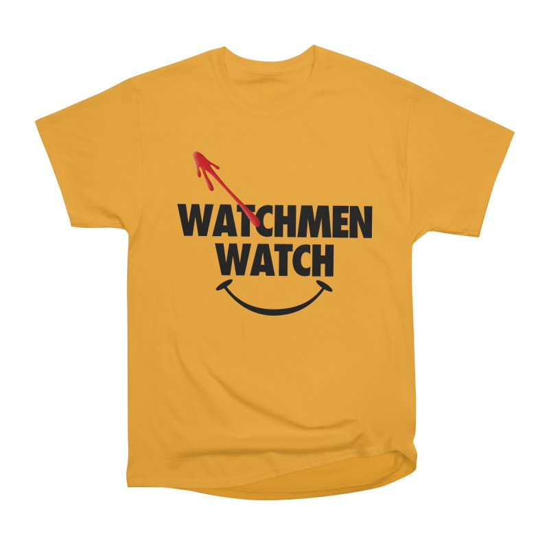 Watchmen Watch - Black on Yellow Women's T-Shirt by Comic Book Club Official Shop