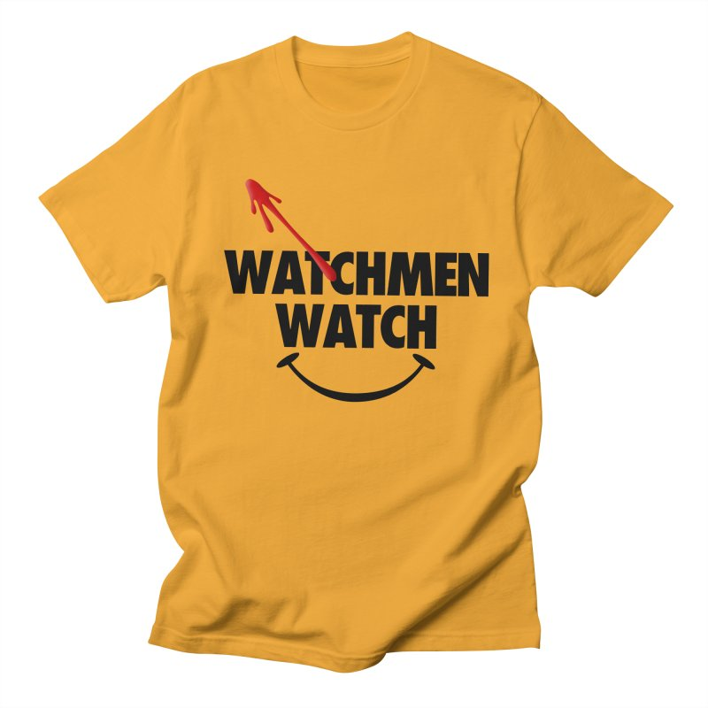 Watchmen Watch - Black on Yellow Men's Regular T-Shirt by Comic Book Club Official Shop