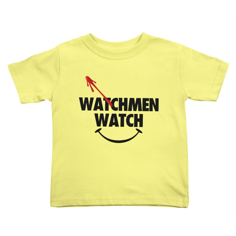 Watchmen Watch - Black on Yellow Kids Toddler T-Shirt by Comic Book Club Official Shop