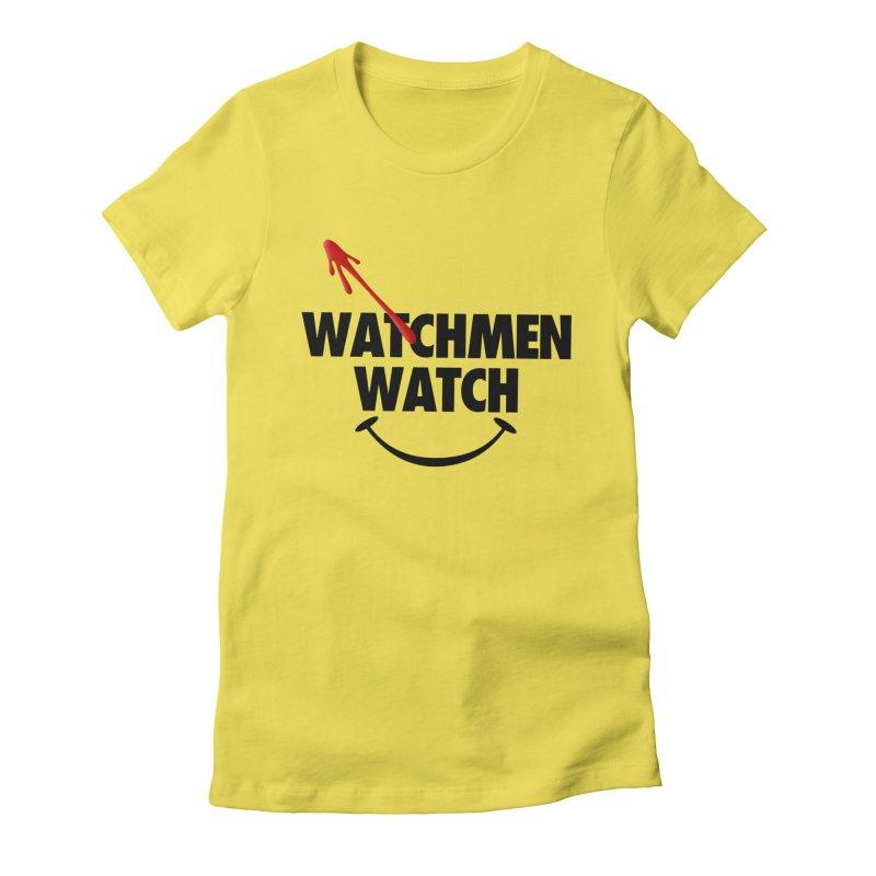 Watchmen Watch - Black on Yellow Women's T-Shirt by Comic Book Club Official Shop