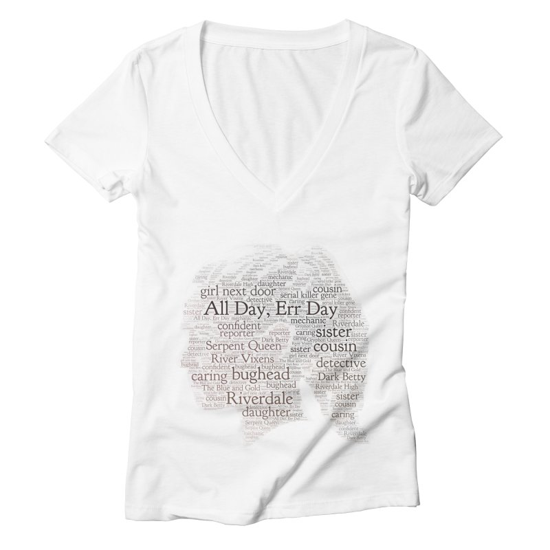 Betty All Day, Err Day Women's Deep V-Neck V-Neck by Comic Book Club Official Shop