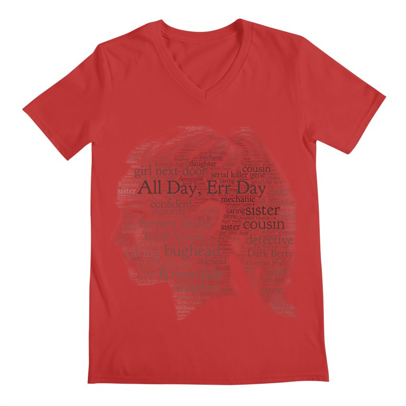 Betty All Day, Err Day Men's Regular V-Neck by Comic Book Club Official Shop
