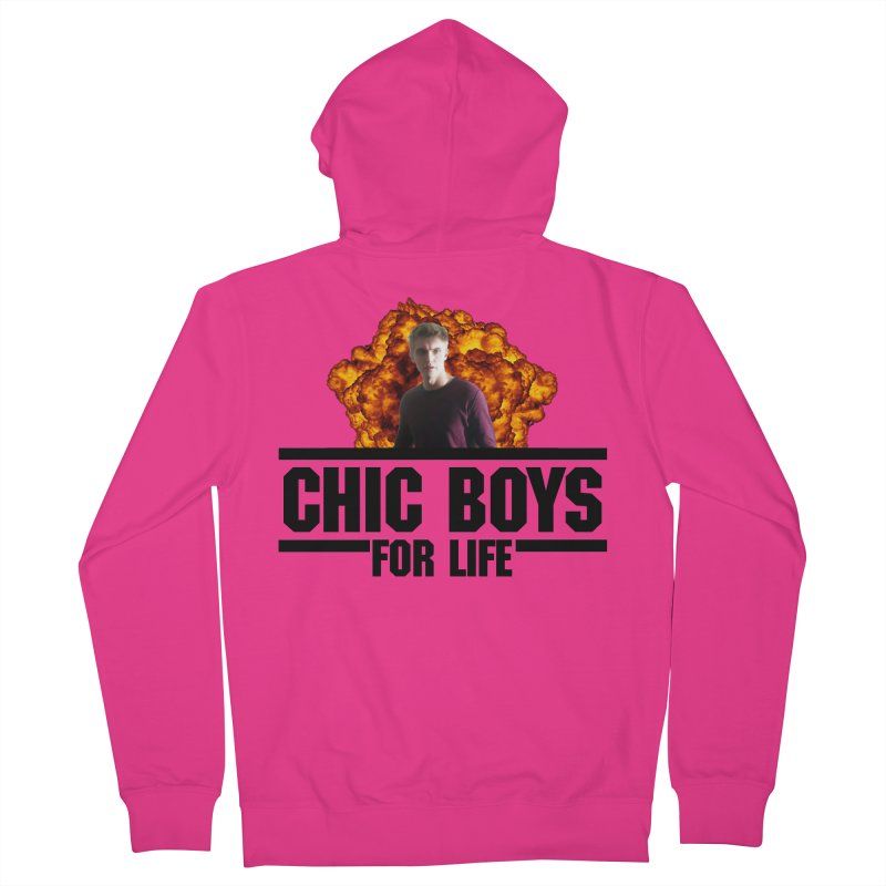 Chic Boys For Life Men's French Terry Zip-Up Hoody by Comic Book Club Official Shop