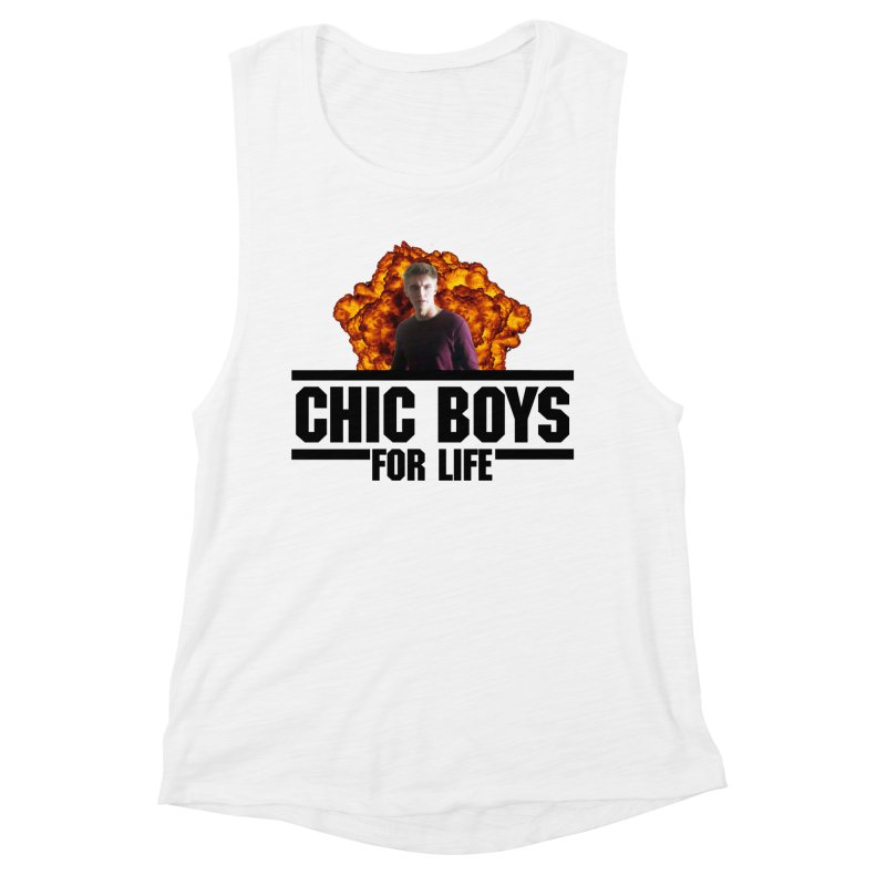 Chic Boys For Life Women's Muscle Tank by Comic Book Club Official Shop