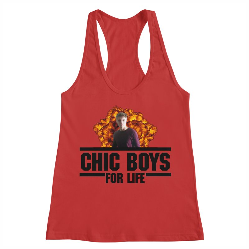 Chic Boys For Life Women's Racerback Tank by Comic Book Club Official Shop
