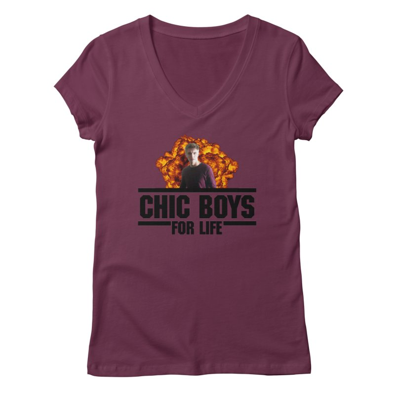 Chic Boys For Life Women's Regular V-Neck by Comic Book Club Official Shop