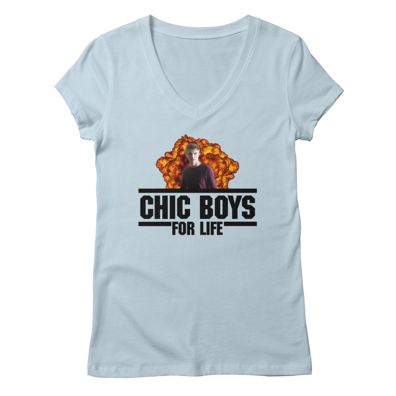 Chic Boys For Life Women's V-Neck by Comic Book Club Official Shop