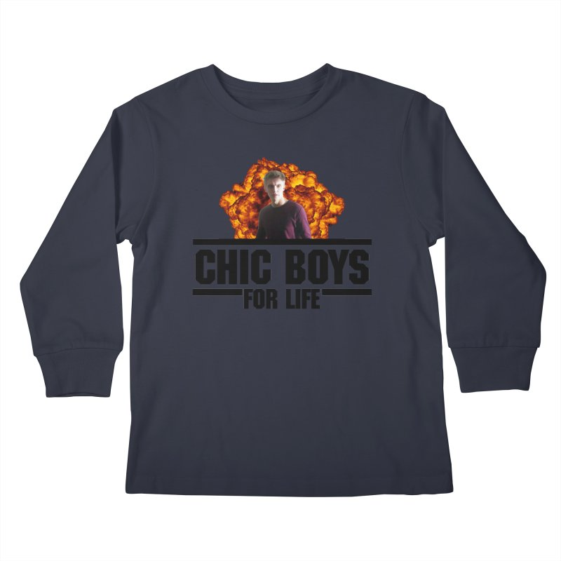 Chic Boys For Life Kids Longsleeve T-Shirt by Comic Book Club Official Shop