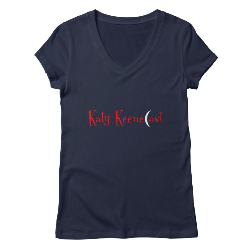 Katy KeeneCast Logo Women's Regular V-Neck by Comic Book Club Official Shop