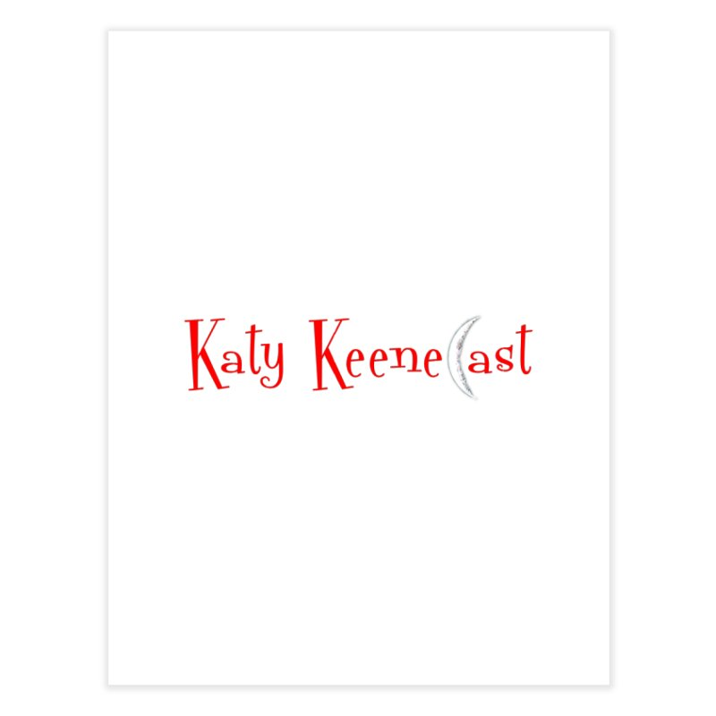 Katy KeeneCast Logo Home Fine Art Print by Comic Book Club Official Shop