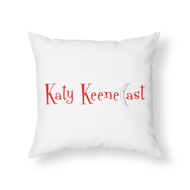 Katy KeeneCast Logo Home Throw Pillow by Comic Book Club Official Shop