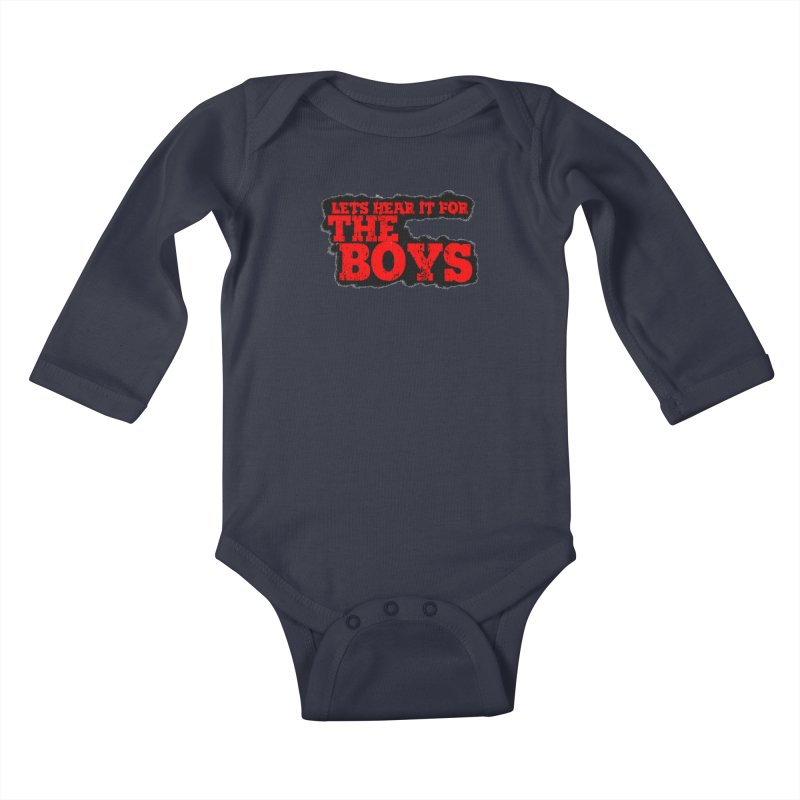 Let's Hear It For The Boys Kids Baby Longsleeve Bodysuit by Comic Book Club Official Shop
