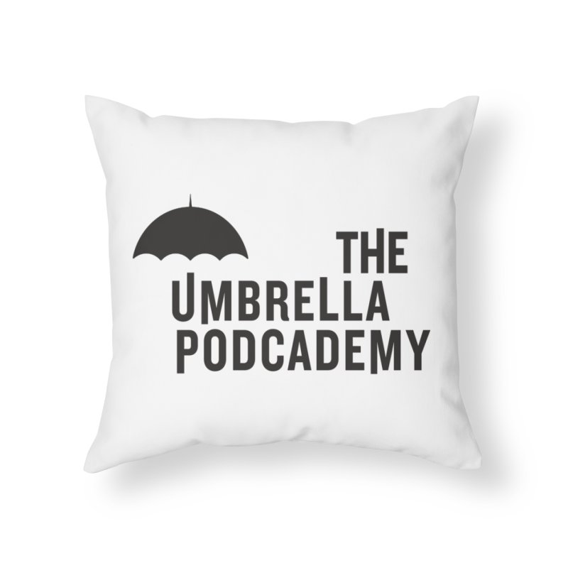 The Umbrella Podcademy Home Throw Pillow by Comic Book Club Official Shop
