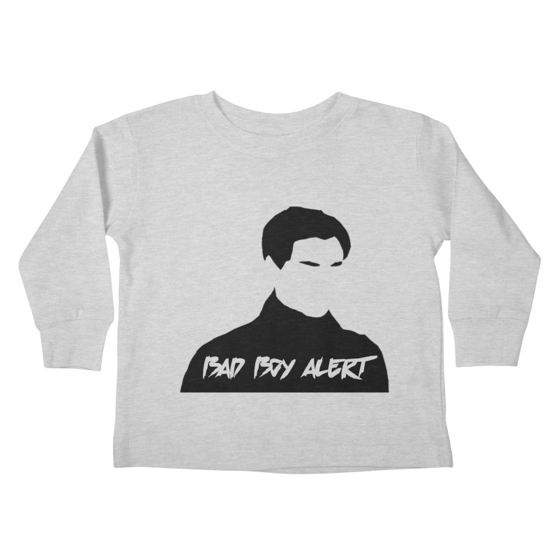 Bad Boy Alert Kids Toddler Longsleeve T-Shirt by Comic Book Club Official Shop