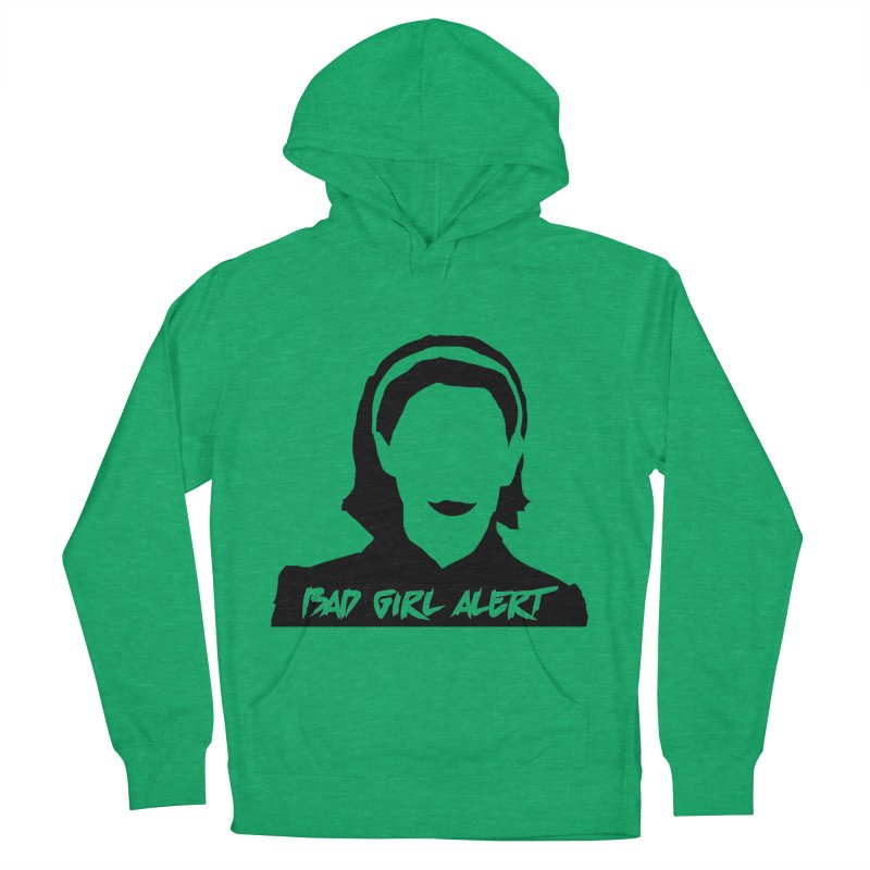 Bad Girl Alert Women's French Terry Pullover Hoody by Comic Book Club Official Shop