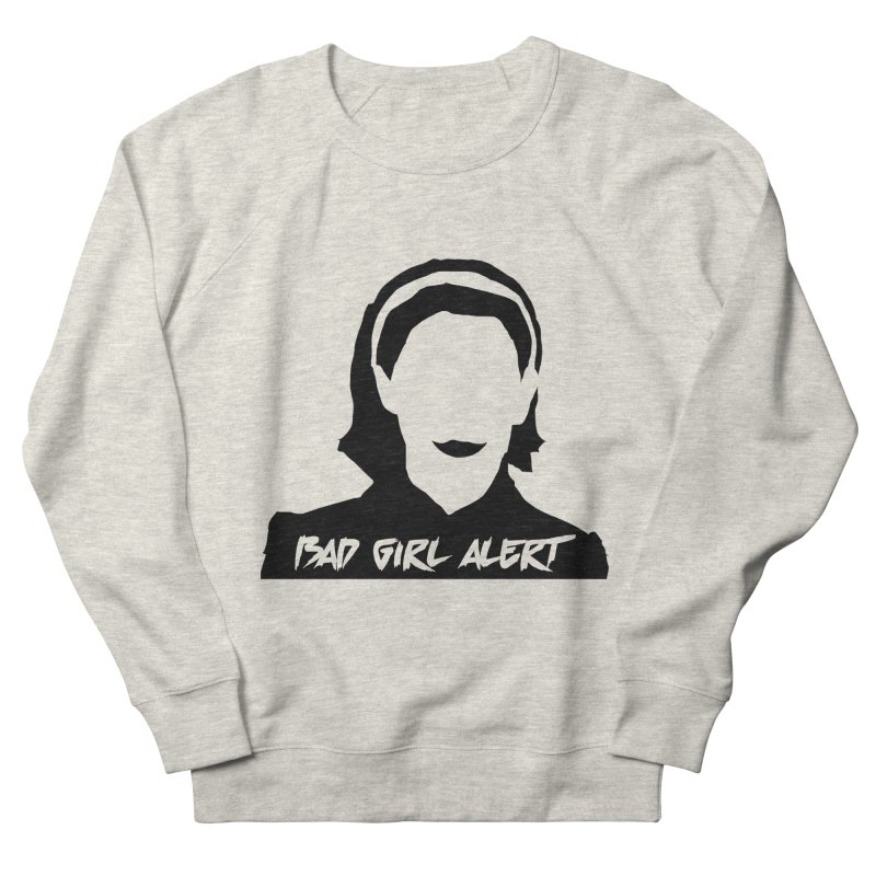Bad Girl Alert Women's French Terry Sweatshirt by Comic Book Club Official Shop
