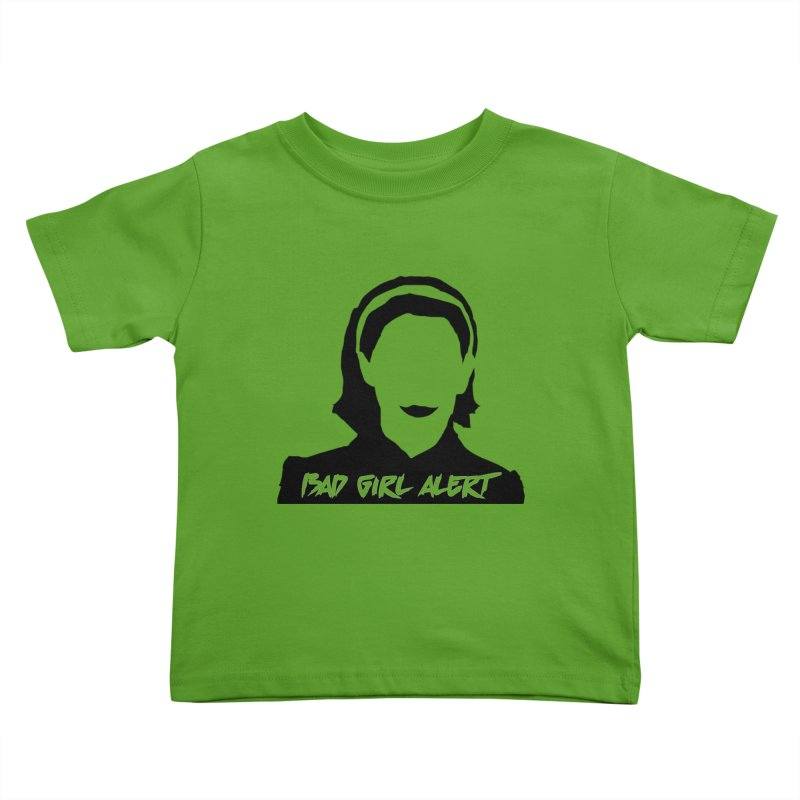 Bad Girl Alert Kids Toddler T-Shirt by Comic Book Club Official Shop
