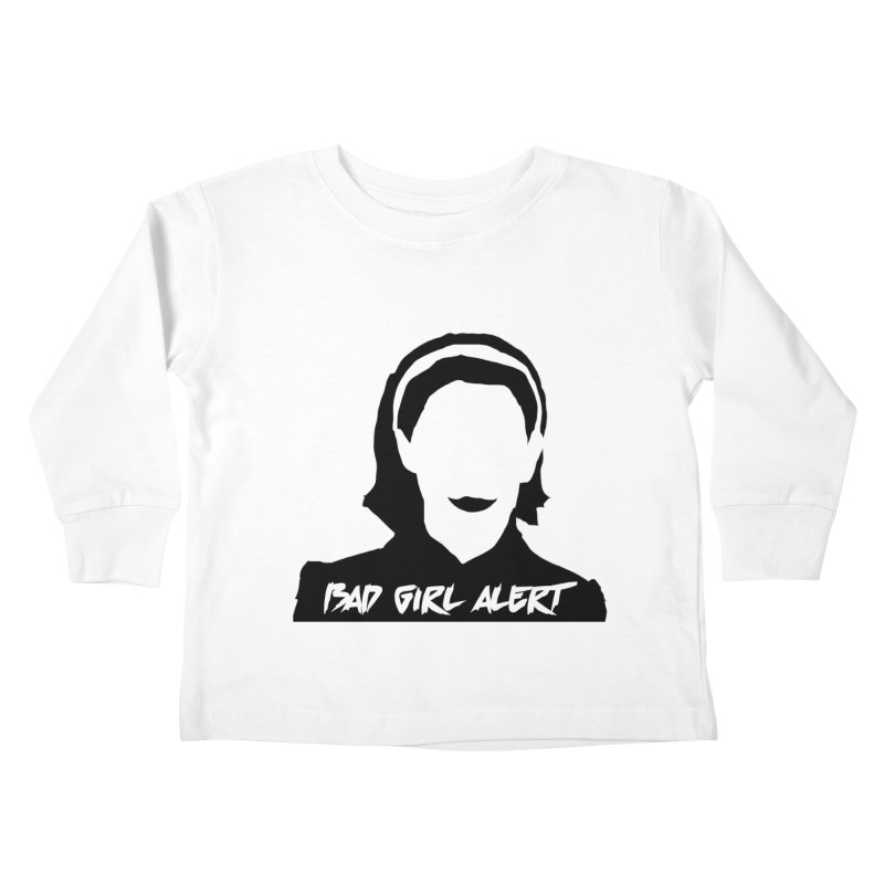 Bad Girl Alert Kids Toddler Longsleeve T-Shirt by Comic Book Club Official Shop