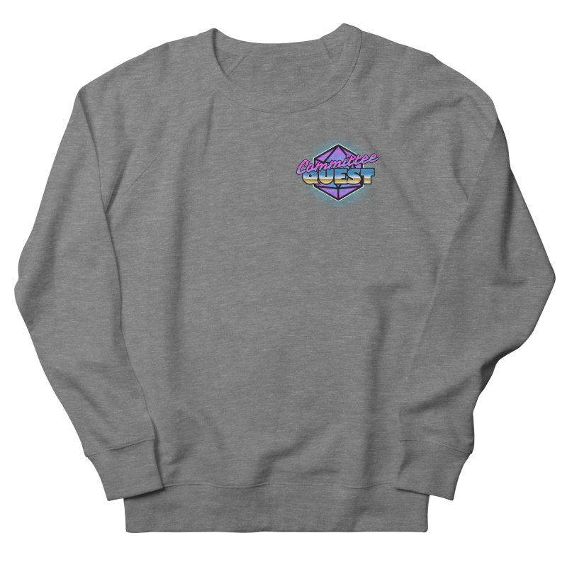 Committee Quest Logo in Women's French Terry Sweatshirt Heather Graphite by committeequest's Artist Shop