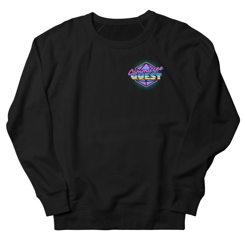 Committee Quest Logo in Men's French Terry Sweatshirt Black by committeequest's Artist Shop