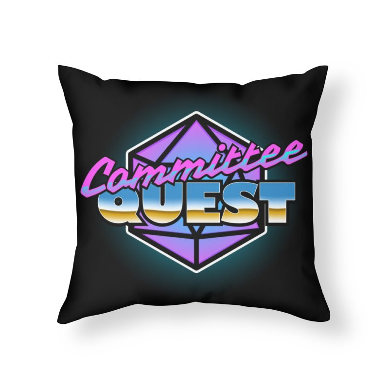 Committee Quest Logo Home Throw Pillow by committeequest's Artist Shop