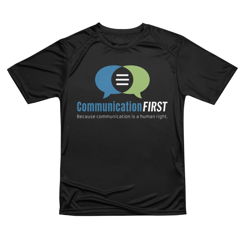 Logo Original on Black Men's T-Shirt by CommunicationFIRST's Artist Shop