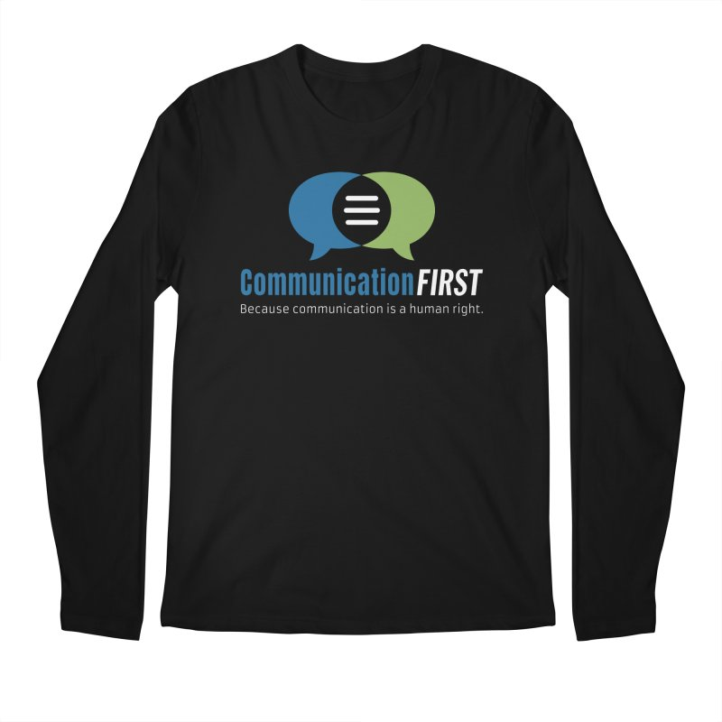 Logo Original on Black Men's Longsleeve T-Shirt by CommunicationFIRST's Artist Shop