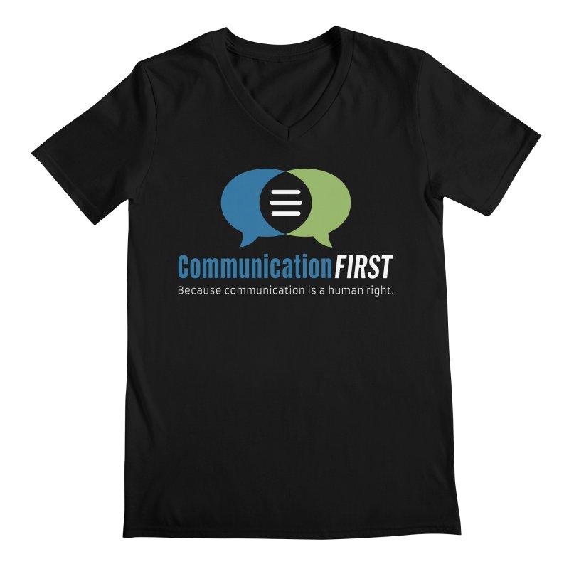 Logo Original on Black Men's V-Neck by CommunicationFIRST's Artist Shop