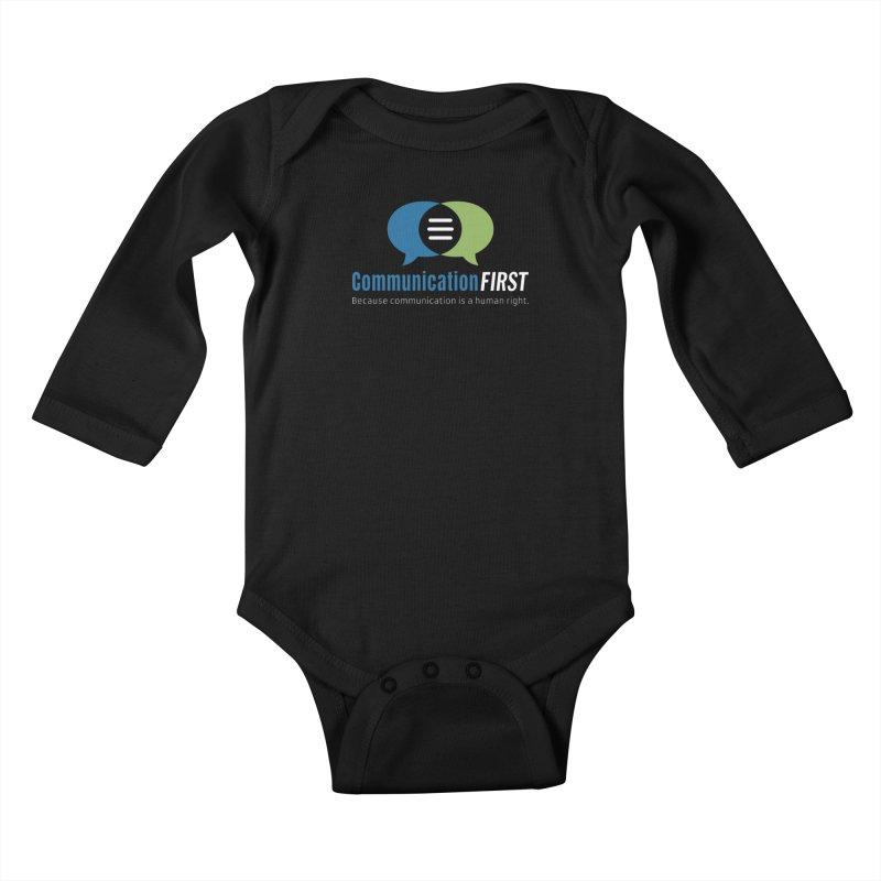 Logo Original on Black Kids Baby Longsleeve Bodysuit by CommunicationFIRST's Artist Shop