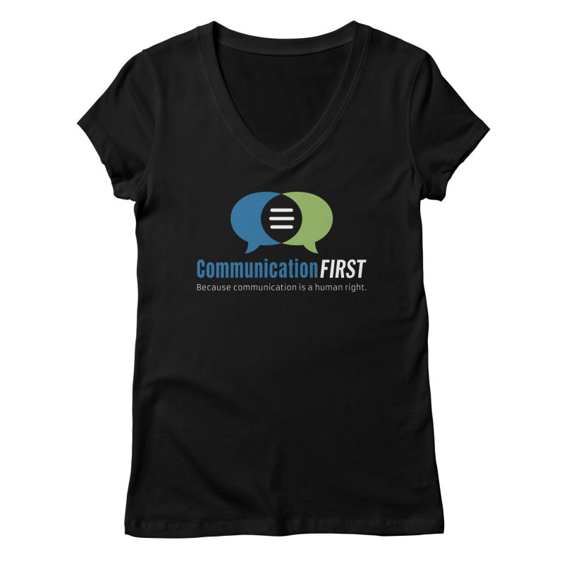Logo Original on Black Women's V-Neck by CommunicationFIRST's Artist Shop