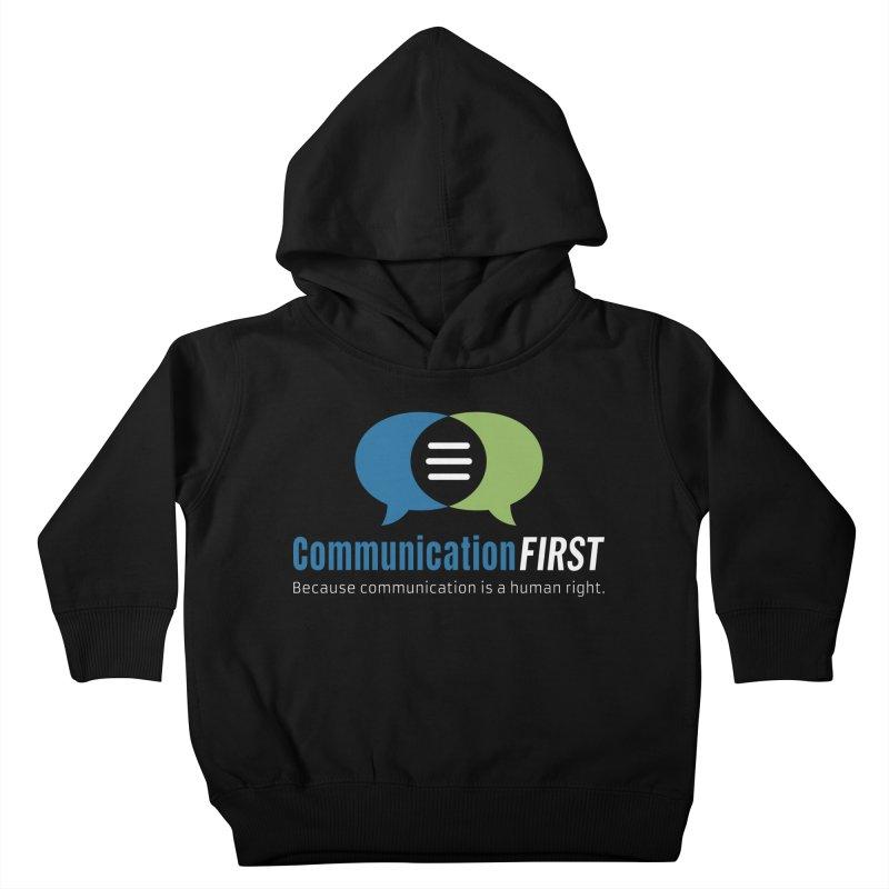 Logo Original on Black Kids Toddler Pullover Hoody by CommunicationFIRST's Artist Shop