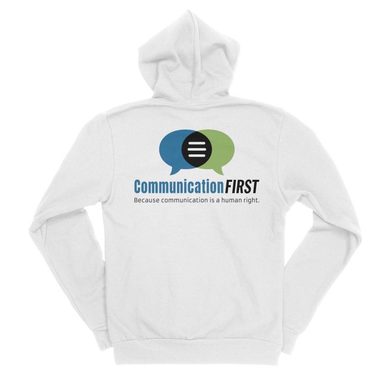 Logo Original Men's Zip-Up Hoody by CommunicationFIRST's Artist Shop
