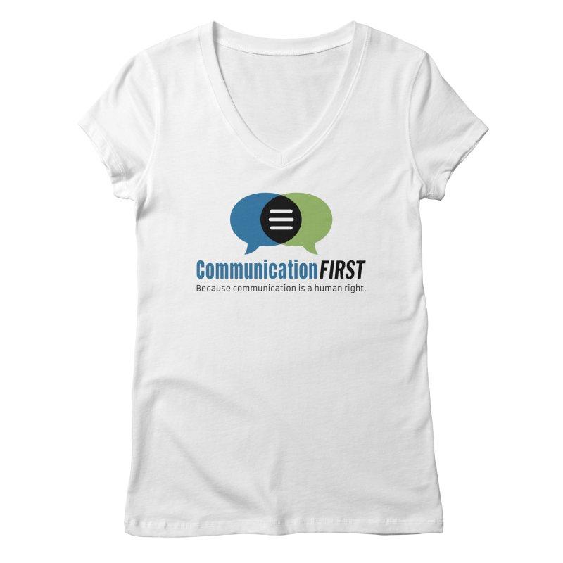 Logo Original Women's V-Neck by CommunicationFIRST's Artist Shop