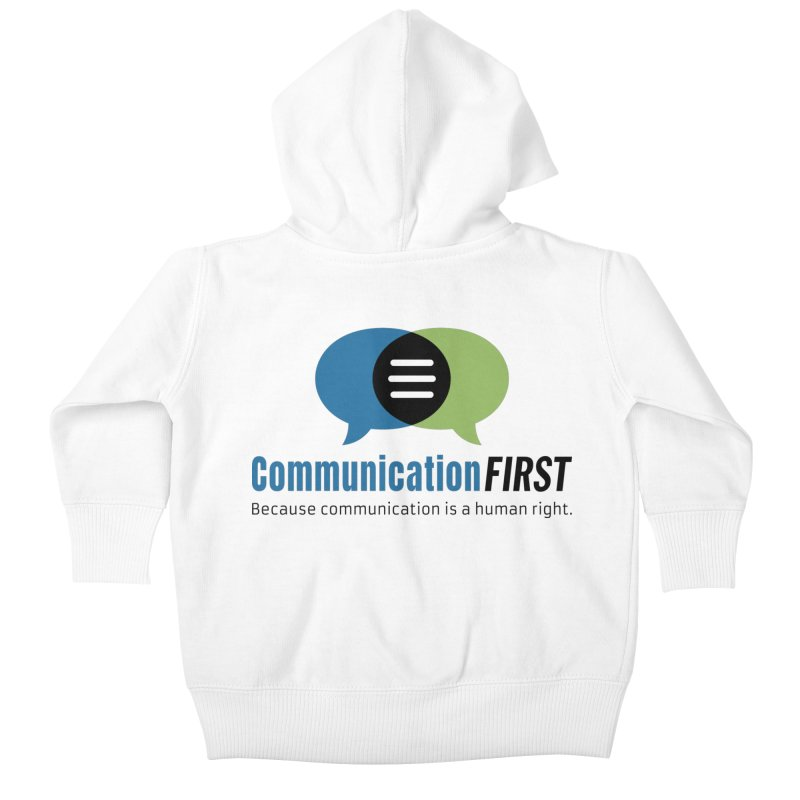 Logo Original Kids Baby Zip-Up Hoody by CommunicationFIRST's Artist Shop