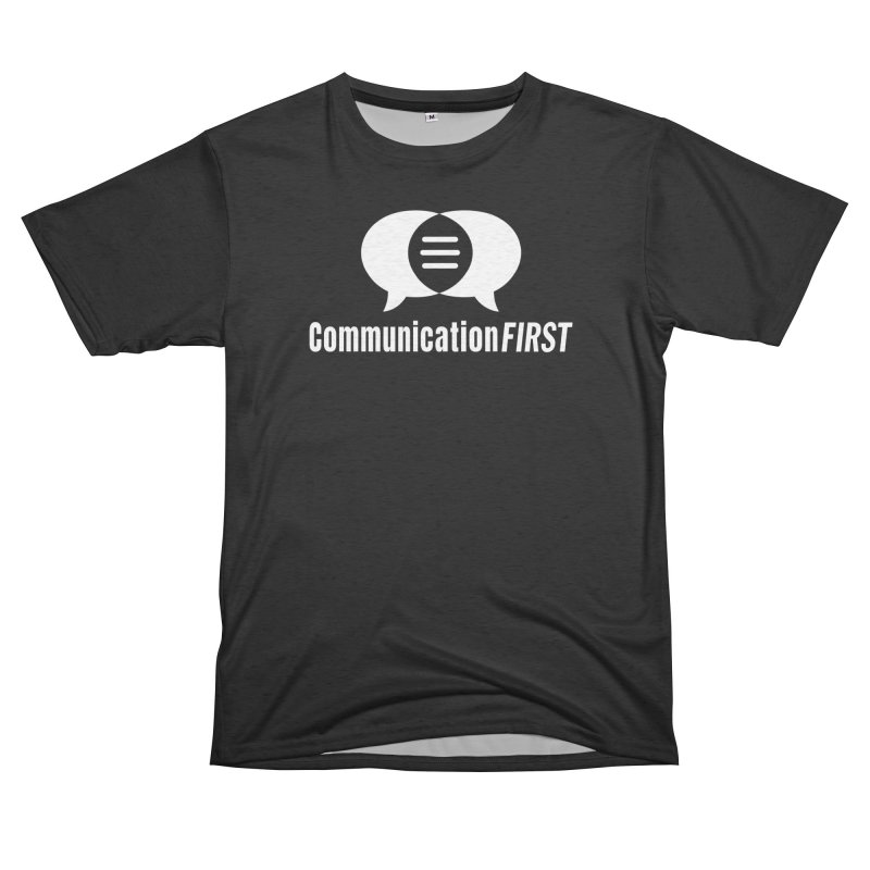 Logo White Men's Cut & Sew by CommunicationFIRST's Artist Shop