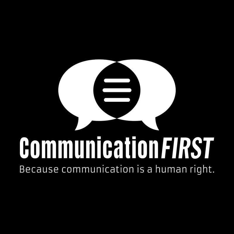 Logo White Men's V-Neck by CommunicationFIRST's Artist Shop