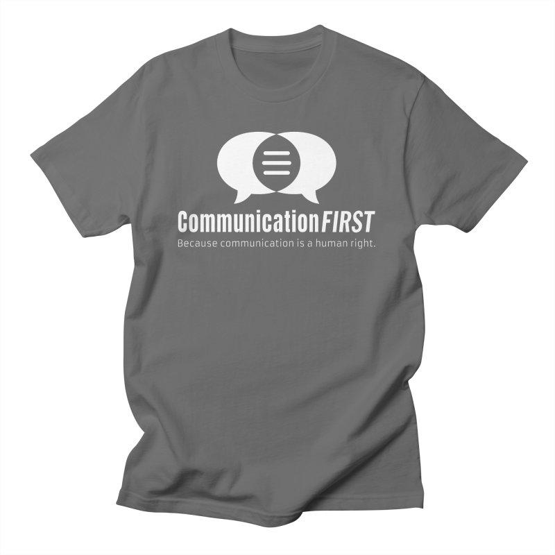 Logo White Men's T-Shirt by CommunicationFIRST's Artist Shop