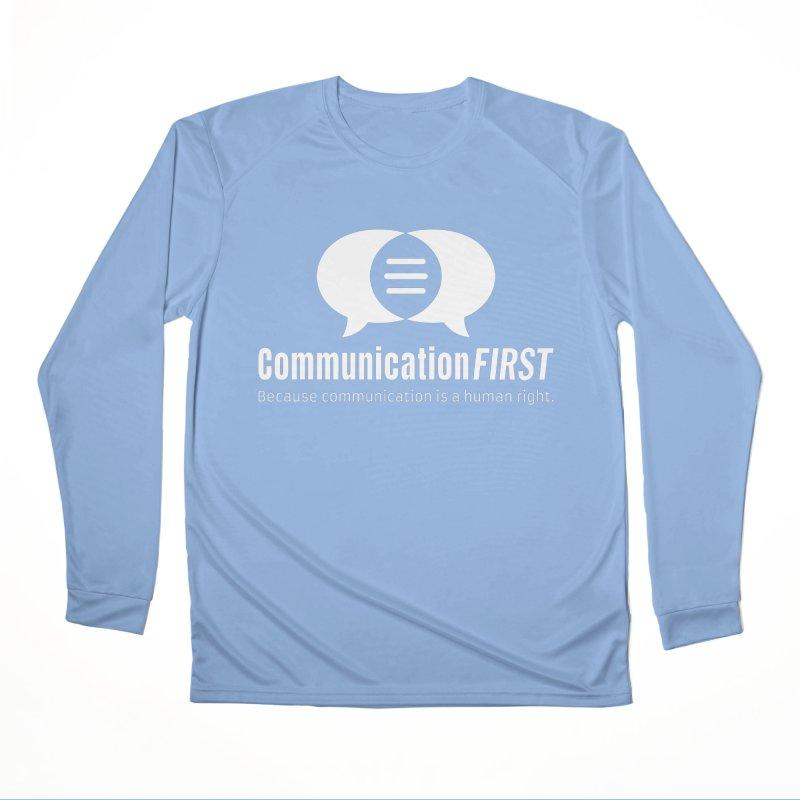 Logo White Men's Longsleeve T-Shirt by CommunicationFIRST's Artist Shop