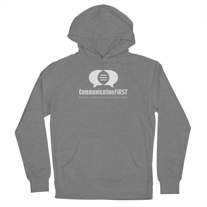 Logo White Women's Pullover Hoody by CommunicationFIRST's Artist Shop