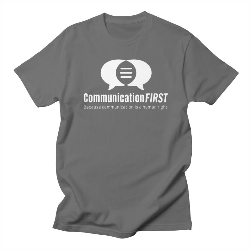 Logo White Men's T-Shirt by CommunicationFIRST's Artist Shop