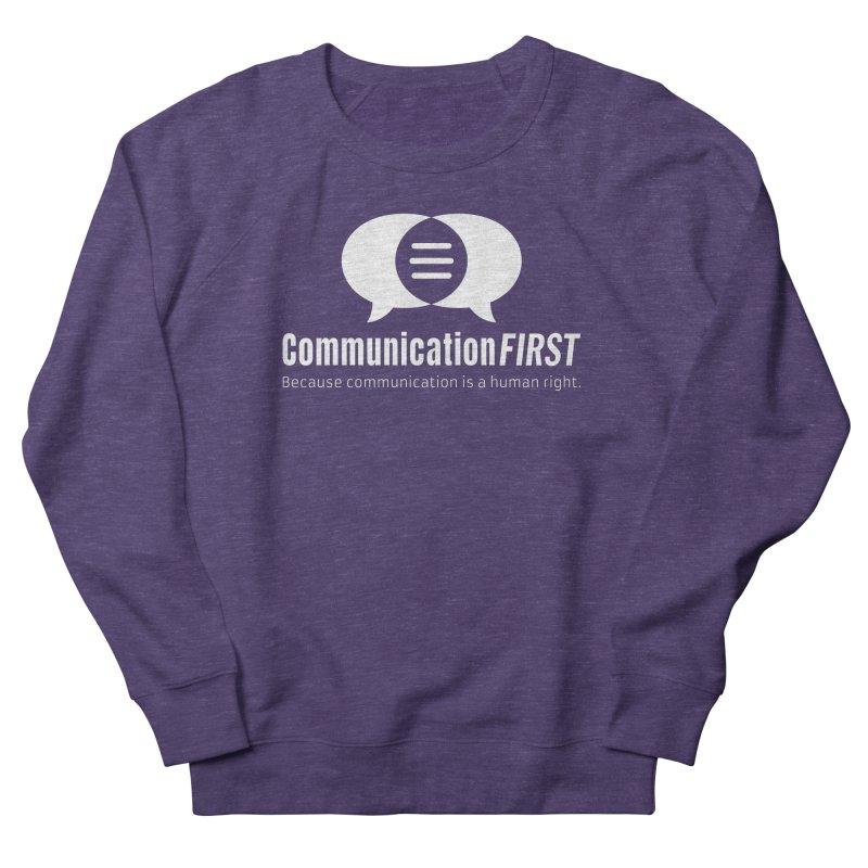 Logo White Men's Sweatshirt by CommunicationFIRST's Artist Shop
