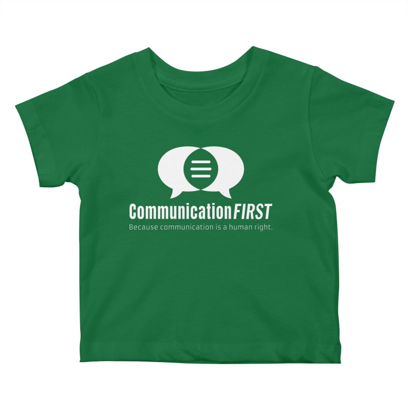 Logo White Kids Baby T-Shirt by CommunicationFIRST's Artist Shop