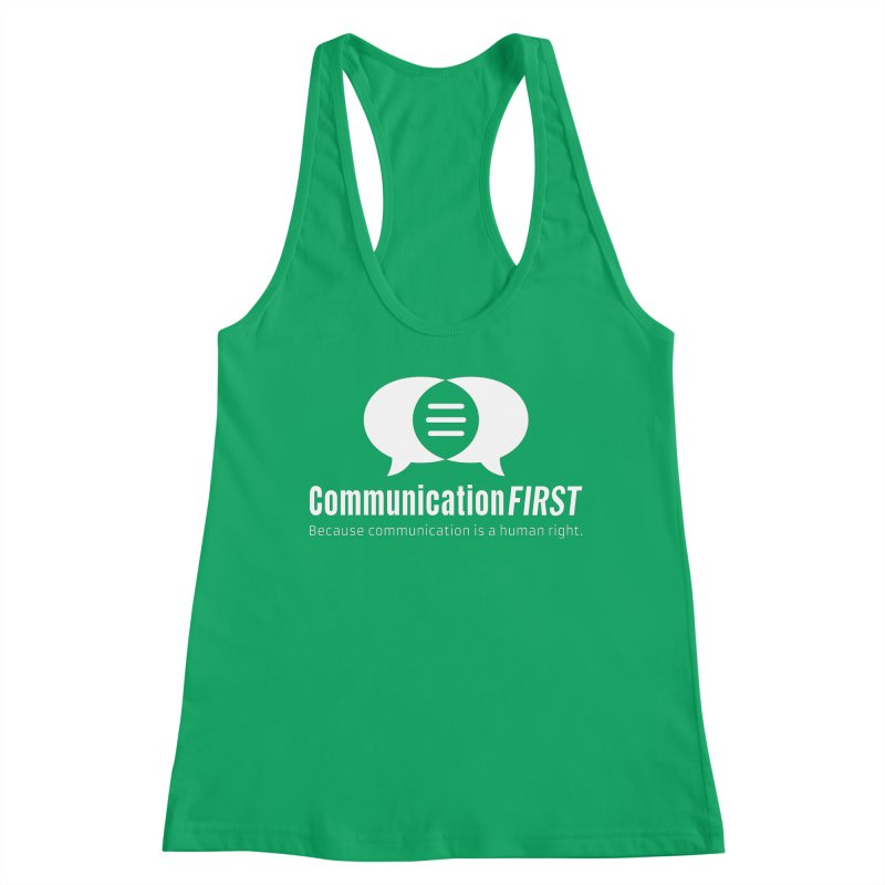 Logo White Women's Tank by CommunicationFIRST's Artist Shop