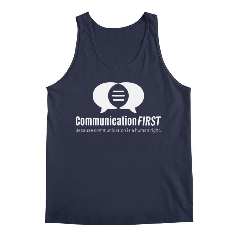 Logo White Men's Tank by CommunicationFIRST's Artist Shop