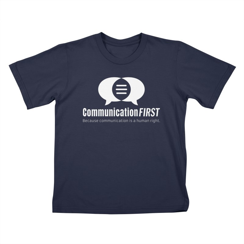 Logo White Kids T-Shirt by CommunicationFIRST's Artist Shop